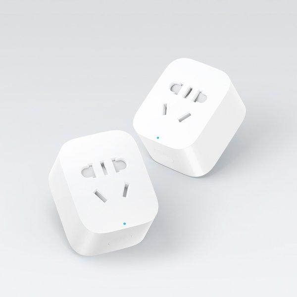 Wholesale-Original Xiaomi Smart Socket-Stecker-Ladegerät Grundlegende WiFi APP Drahtlose Fernbedienung EU US UK AU Buchse Adapter Ein- und Ausschalten mit Telefon