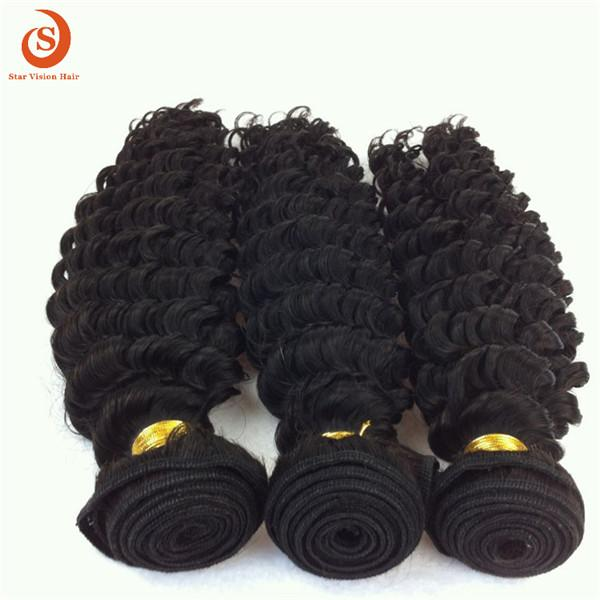 Hot Sale 8 To 30 Inch Many Types Of India Curly Natural Black Color