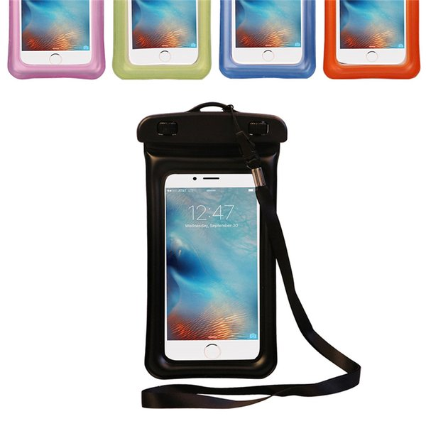 Transparent PVC Bubble Float Waterproof Bag Swimming Mobile Phone Case Cover Pouch for Samsung Galaxy s6 edge