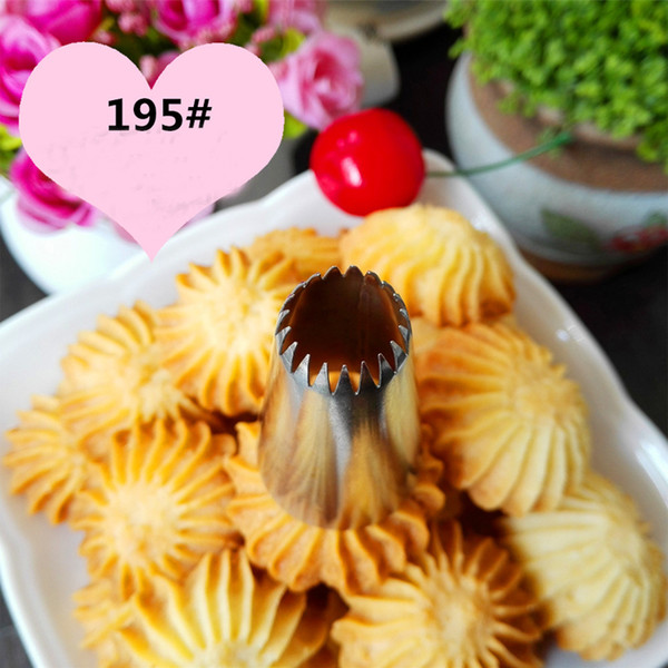 Wholesale- #195 New Writing Cupcake Tube High Quality Steel Cake Decorating Tips Pastry Nozzles Cake Making Tools KH071