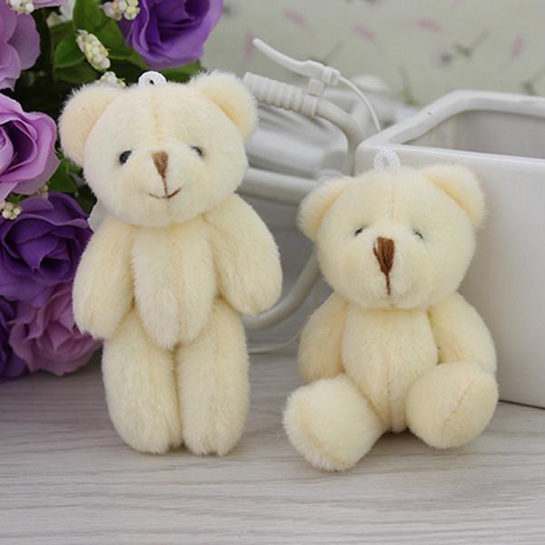 Wholesale-100PCS / LOTTO Kawaii Piccoli orsacchiotti congiunti Peluche ripiene 8CM Giocattolo Teddy-Bear Mini Orso Ted Orsi Giocattoli di peluche Regali di nozze 0902