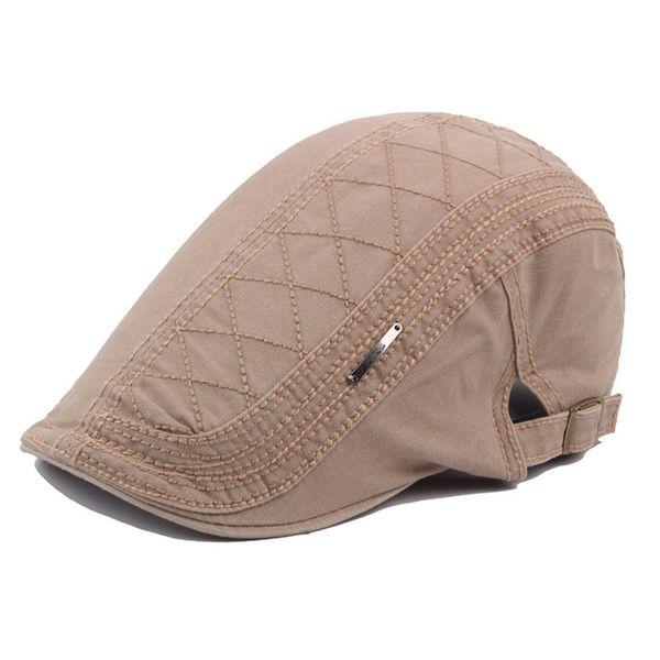 Unisex Mens Summer Sun Solid Cotton Flat Beret Cap Ivy Gatsby Newsboy Hunting Driving Cabbie Golf Hat Adjustable Free Shipping
