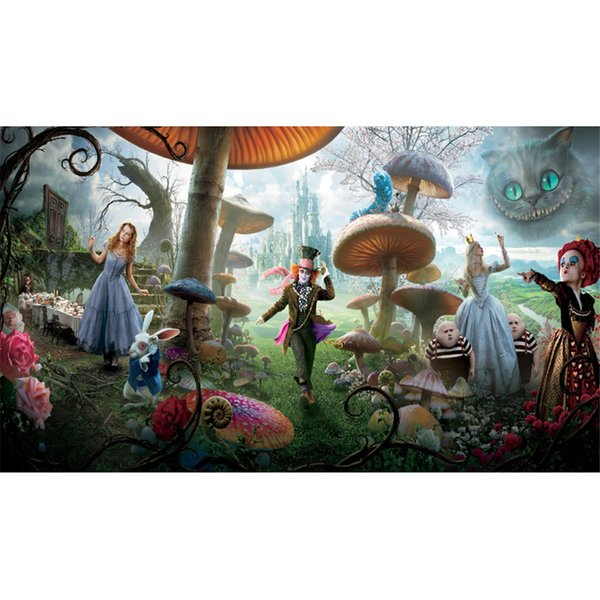 Wonderland Photography Backdrops Mushrooms Forest Children Kids Cartoon Photo Studio Background Princess Castle Party Stage Backdrop