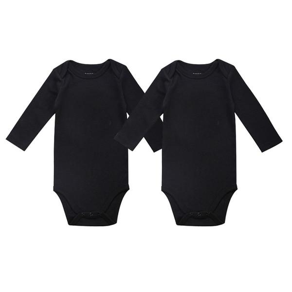 godere del prezzo più basso stili di grande varietà marchio popolare Acquista Unisex Baby Girls Boy Abbigliamento Neonato Body Nero 100% Cotone  Morbido 0 12 Mesi Manica Lunga Baby Clothes / A $14.47 Dal Babyshow520 | ...
