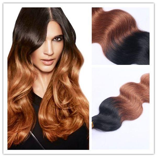 Plus populaire Hot vente Top qualité Ombre Couleur 1B / 30 Body Wave Trame de cheveux Extensions de cheveux humains