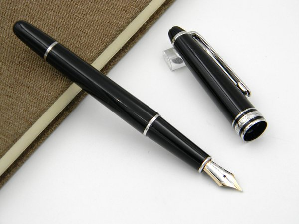 best selling Resin plastic 163 golden Luxury silver BLACK Lacquerred Fountain Pen
