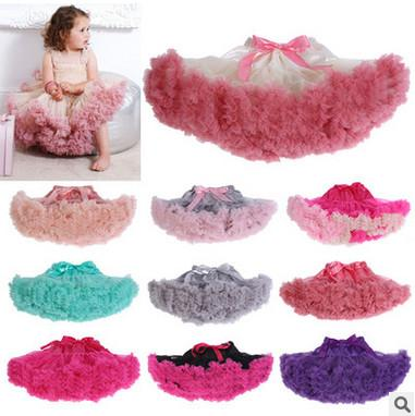24color Girls lace tutu skirts Children bow lace-up tutu skirts baby kids new spring summer lace princess party skirts T1075