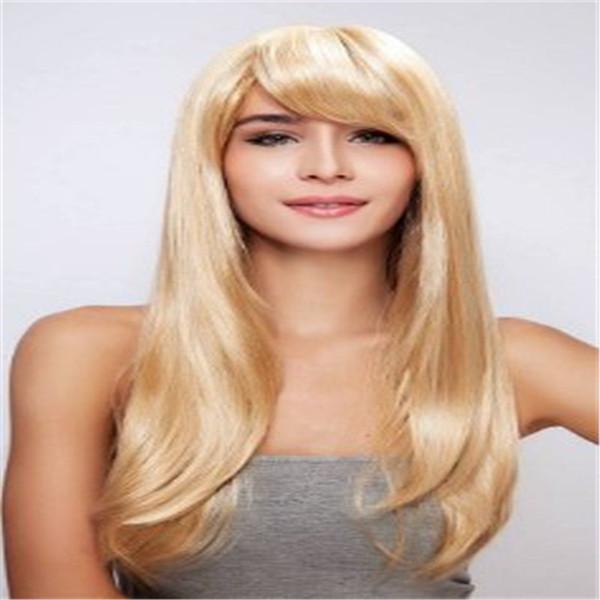 Virgin Human Hair 100% Wig Blonde Blonde Brazil Is Full Lace Wig 613# Human Hair Wig Is Full Of My Shoes Full Lace Human Hair Wigs Silk