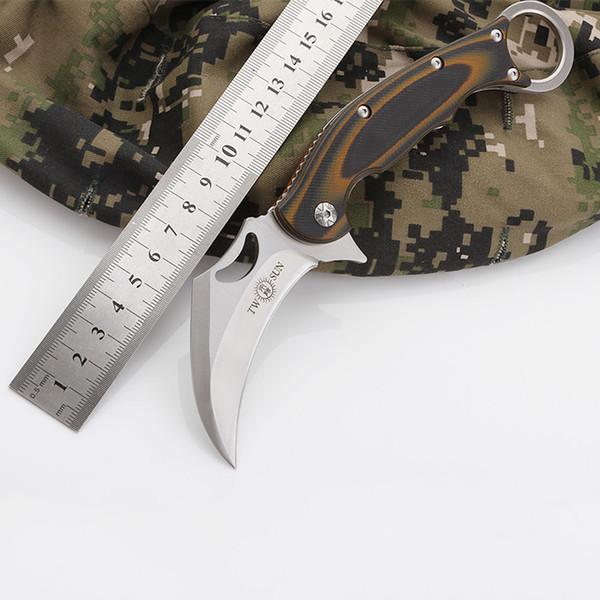 K8046 NEW Claw Karambit Knife G10 Handle 420J2 lade knives Pocket Popular Knife Junting Hiking Knife Tactical Camping Knifel