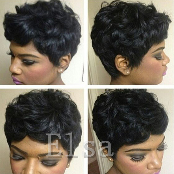 Hot short bob lace wigs 6A grade unprocessed short human hair full lace front wigs 130%density for black women none lace wigs