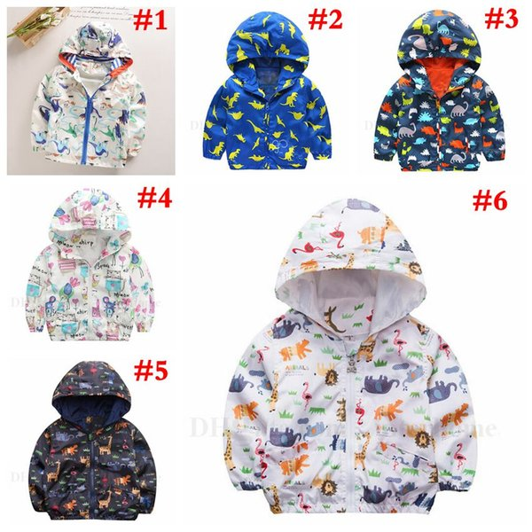 best selling Kids Clothing Cartoon Sweatshirts INS Baby Jumpers Dinosaur Printed Hoodies Baby Fashion Jackets Children Cotton Coat Boys Girl Outwear H646