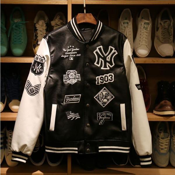 Yankees Mantel Marke New Männer Hip Mlb Echtes Jacke York Lituo1999316 Jacken Hop Großhandel Leder Mode Sweatshirts Von Herren Basketball 2017 Caual T3KulFJc1