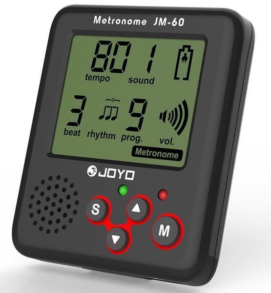 JOYO JM-60 Clip-on Afinador de Guitarra Metrónomo Electrónico Generador de Tono Sintonizador para Guitarra Violín Ukulele Tempo Entrenamiento