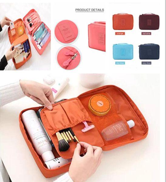 8 colors Travel Make Up Cosmetic Storage Zipper Bag Case Women Wash Makeup Bag Toiletries Kit Jewelry Organizer Travel multi pouch Handbag