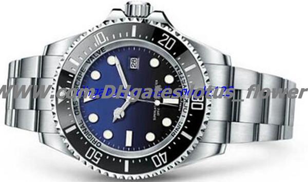 Мужская керамическая безель 44 мм Stanless стали Застежка 116660 автоматический высокое качество бизнес случайные мужские часы