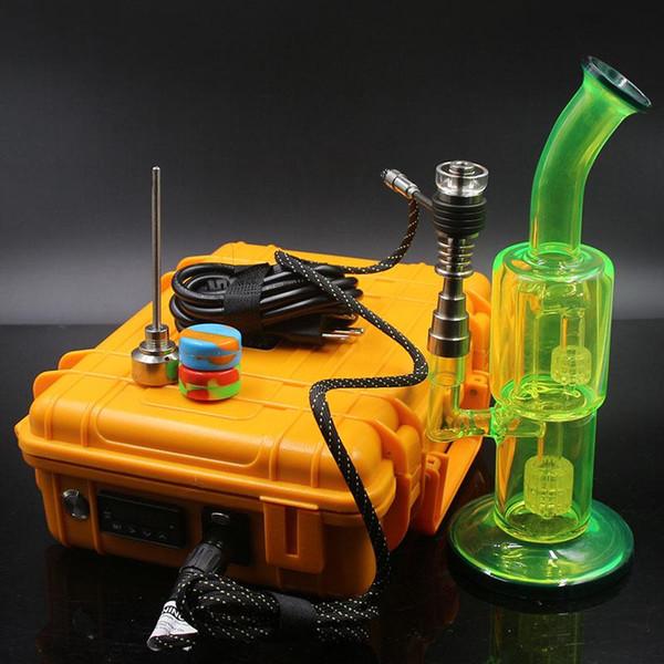 Cigarrillo electrónico Vaporizador de cera portátil Camuflaje D-nail vaporizador con Bongs Cuarzo Banger Nail 10mm 16mm 20mm D-Nail Coil Calentador Kit