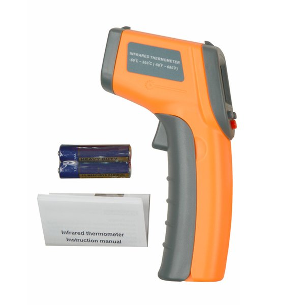 Updated! GS320 Laser LCD Display Digital IR Infrared Thermometer Auto Temperature Meter Gun Non Contact Sensor -50~360 Degree