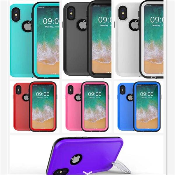best authentic 80821 91788 For Iphone X Waterproof Case Sports Swimming Shock Proof Cover Hard Front  Plastic Back Cover Cases Shockproof , Not Tpu!. +Retail Package Canada 2019  ...