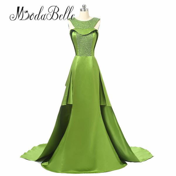 modabelle Green Gold Long Mermaid Evening Dress Abendkleider 2017 Pearls Off The shoulder Evening Prom Dress Kleider Damen Elegant Lang