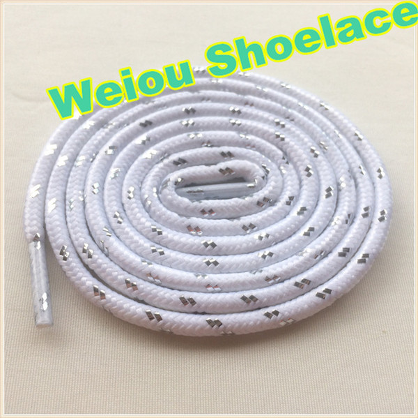 Weiou hot sale Sports White black silver Shoelaces Round rope laces for Outdoor Climbing Casual shoes 120cm fashion unisex bootlace