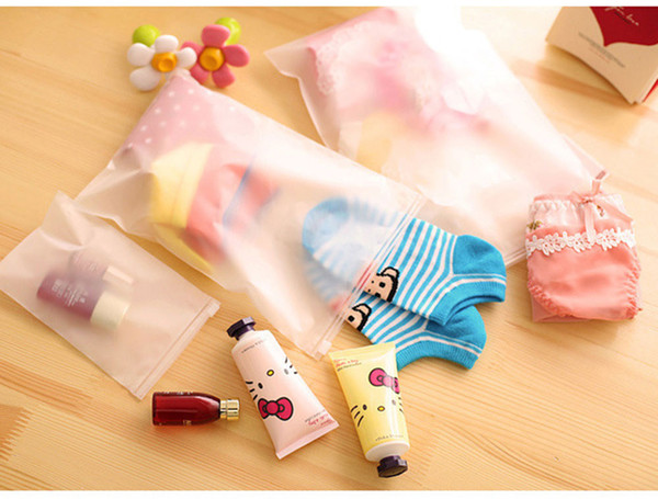 7pcs/sets Matte Transparent Storage Bag Waterproof Travel Plastic Bag Slide Seal Packing Pouch With Zipper For Clothes Underwear Cosmetics