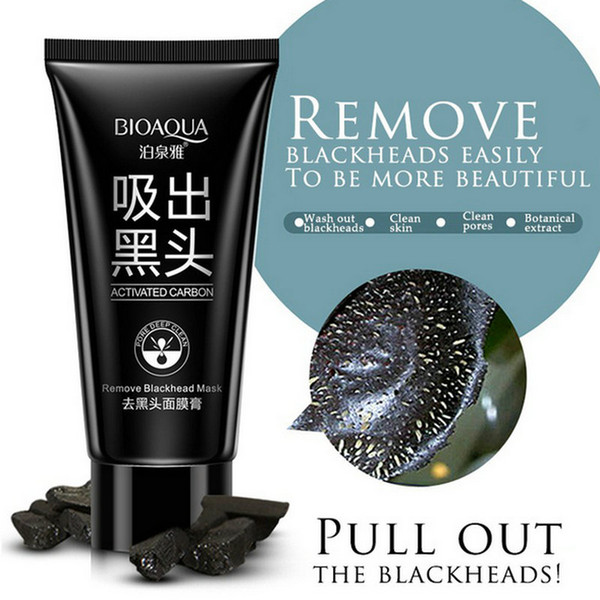 DHL 300PCS BIOAQUA blackhead black Face mask Care Suction Facial Mask Nose Blackhead Remover Peeling Peel Off Black Head Acne Treatments