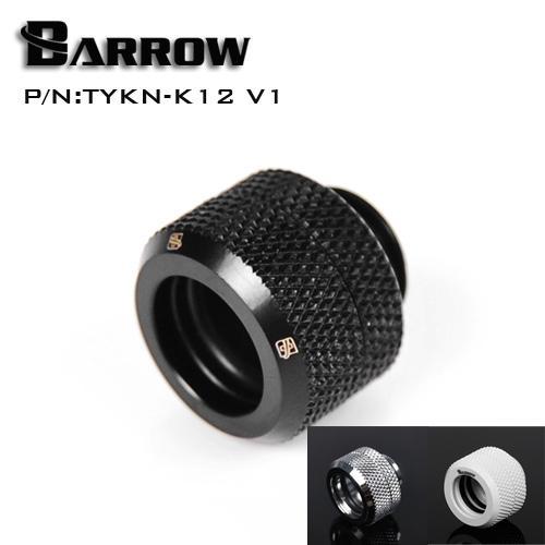 Vente en gros Barrow Noir Argent OD12mm Raccord de tube dur Raccord de compression à la main G1 / 4 '' OD12mm tuyau dur TYKN-K12 V1