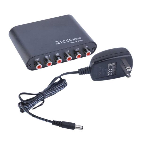 Venta caliente AC3 / DTS Audio óptico digital a 5.1 / 2.1 canales estéreo analógico RCA convertidor al por mayor al por mayor