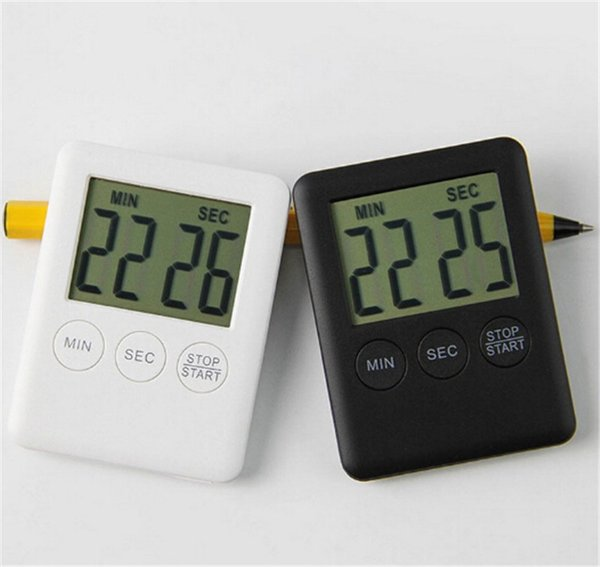100 pcs Digital Electronic LCD Magnetic Countdown Cooking Timer Count Down Egg Kitchen 99 Minute Alarm Clock