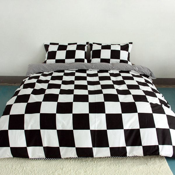 Wholesale- Black And White Printing Activity Bedding sets Super King Queen,Duvet Quilt cover set,Bedroom Bedding,Home Textiles#ZY15
