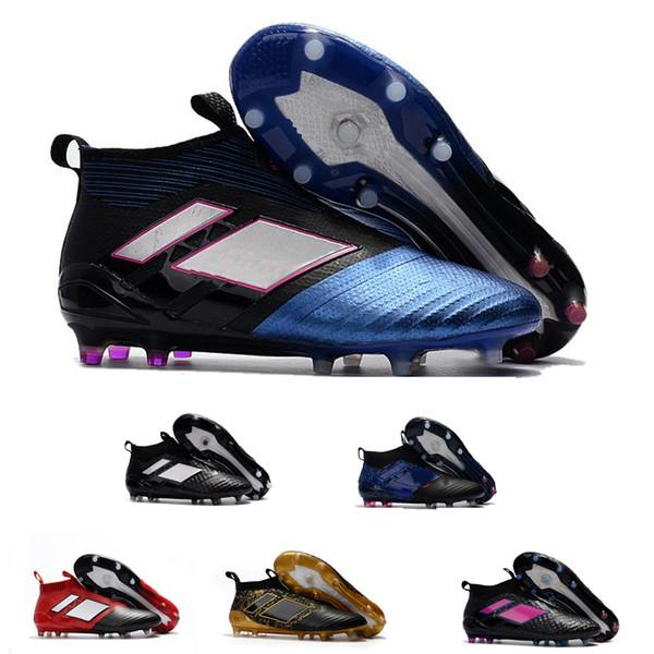 nuevos ACE 17+ FG Purecontrol Soccer Cleats Outdoor Lawn Training Zapatos de fútbol Hombres Wholesale Game New Sport Sneakers Eur 39-45
