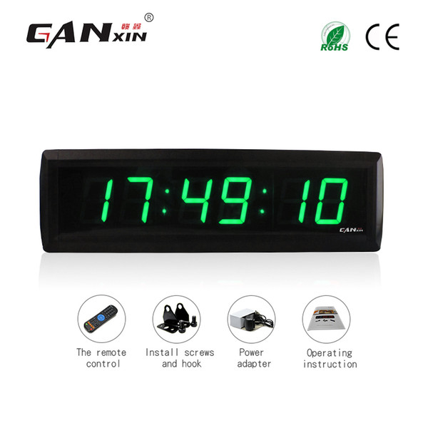 [Ganxin] Led Projection Clock 1.8 inch 6 Digit Digital Bedroom Wall Clock LED Display Remote Control Countdown Clocks Led Lights
