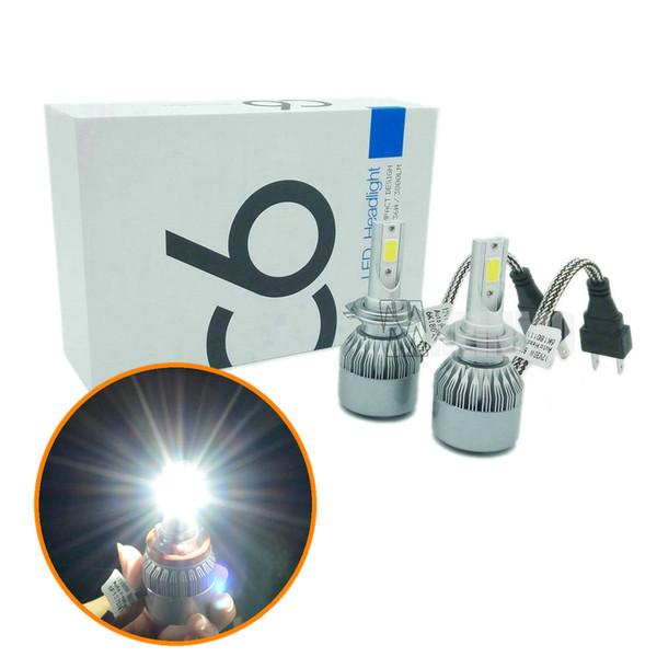 best selling 2PCS 72W WITH chip H7 LED car headlights H8 H9 H11 9006 9005 HB3 HB4 LED headlamp headlight bulbs DRL led flashlight 7600LM Car