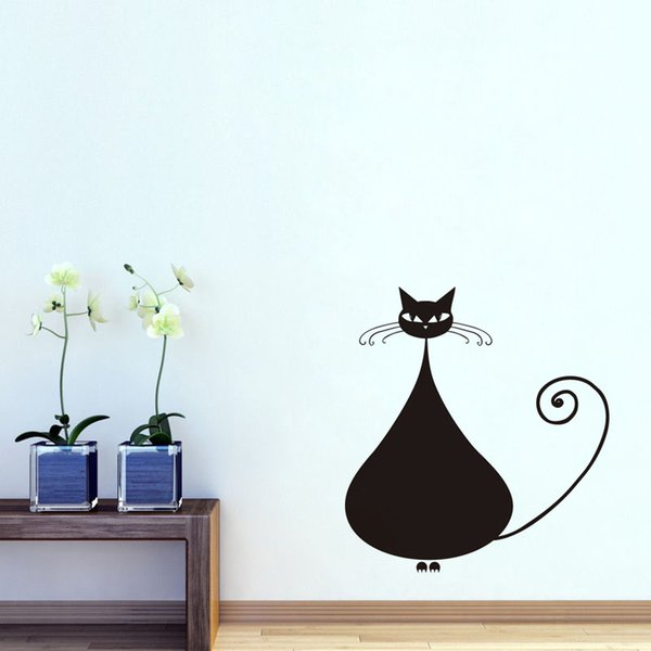 Big Siamese Cat Vinyl Wall Sticker For Kids Room Animal Art Kitchen Decals Living Room Wall Paper Home Decor