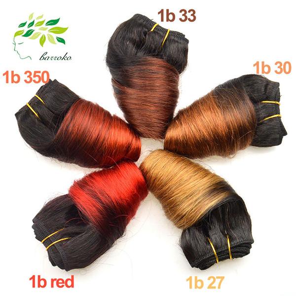 6 Pcs Solto Onda Ofertas Bundle Cabelo Virgem Cabelo Brasileiro Tecelagem 350/33/30/27 Cabelo Humano Crochet Ombre Brasileira Onda Solta