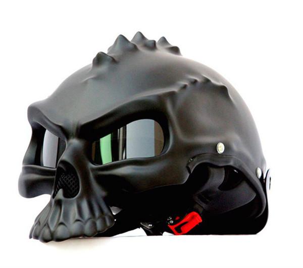 Masei 14 color 489 Dual Use Skull Motorcycle Helmet Capacete Casco Novelty Retro Casque Motorbike Bike Half Open Face Helmet