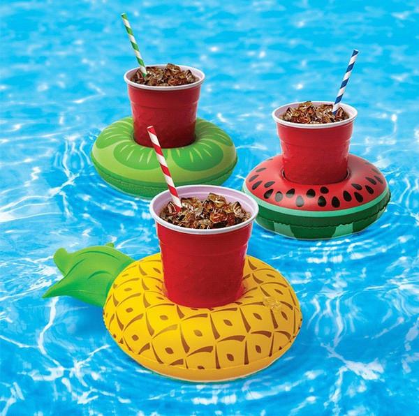 Supporto della tazza del supporto della tazza della bevanda gonfiabile che fa galleggiare il giocattolo adorabile del bagno della piscina per il partito 1000g dei fenicotteri del partito dei fenicotteri della spiaggia