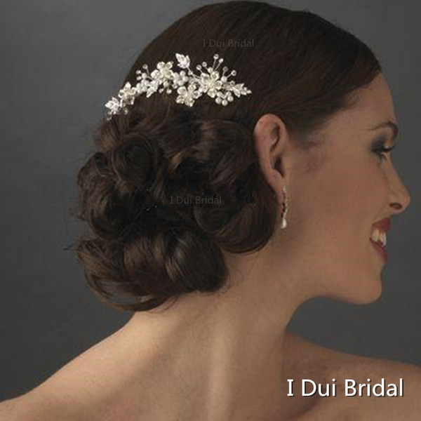 top popular 2020 Free Shipping Hot Sell High Quality Wedding Crystal Flexible Hair Accessory Floral Sydney Bridal Comb 2021