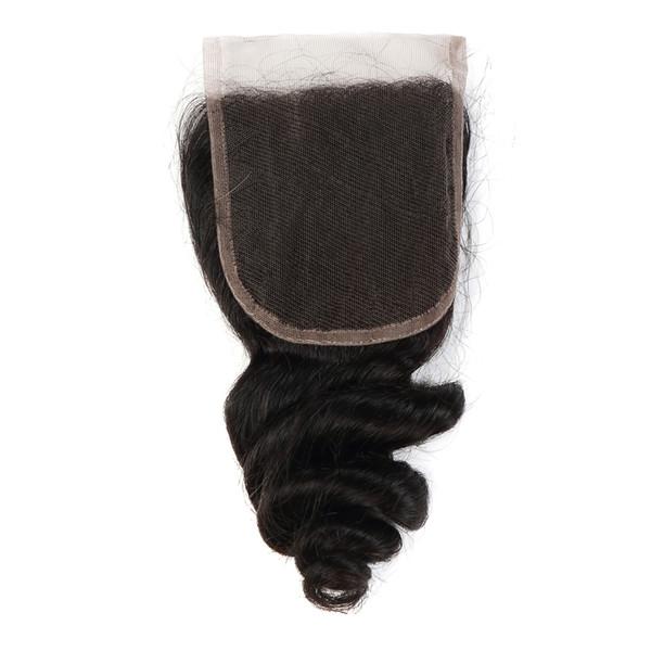 Peruvian Virgin Human Hair Closure Hair Extensions For Fashion Women 100%unprocessed Virgin Human Hair Free Shipping