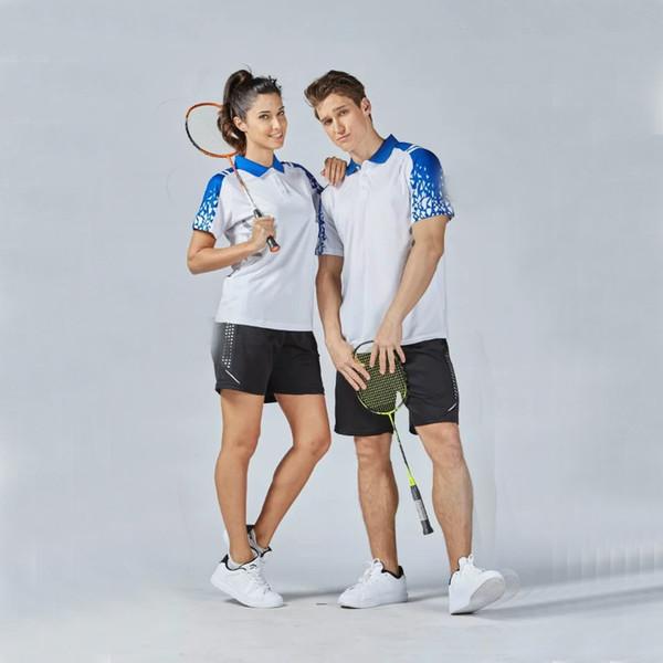 Free Ship 2017 New Sport Kits Quick Dry Badminton sets Couple Model Women Men Breathable Badminton clothes Tennis wear jerseys