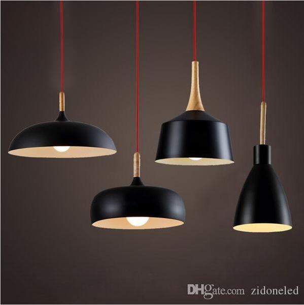 Wholsesale Tom Dixon Pendant Lamp Creative DIY Aluminum wood Pendant Lights Black White Restaurant / Bar Chandeliers Light Lights