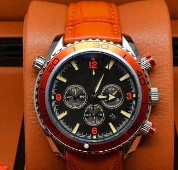 Скидка спортивный хронограф ограниченного часы профессиональный Планета Океан коаксиальная погружения наручные часы оригинальные застежка мужские часы