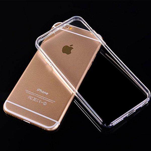 Custodia TPU trasparente in TPU trasparente per iPhone 6 6S 7 Plus Samsung Galaxy S8 S7 S6