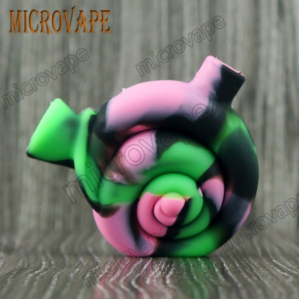 Eyc Amazing 10 colors snail shape mini silicone smoke bubbler dab rig water bongs and good quality by free DHL ship
