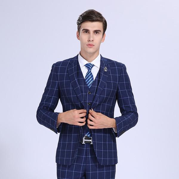 2017 2017 Customize Slim Fit Groom Tuxedos Light Grey Side Slit ...