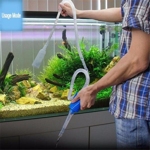 Comprimento 103 cm Ferramenta de Limpeza Manual do Aquário Sifão Cascalho Fish Tank Filtro de Sucção Da Tubulação de Vácuo Mudança de Água Ferramentas de Bomba V4201