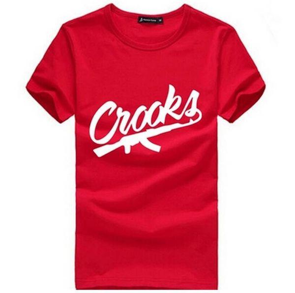 Crooks And Castles T Shirts Men Short Sleeve Cotton Man T-Shirt CROOKS Letter Mens t shirt Tops Tee Shirt