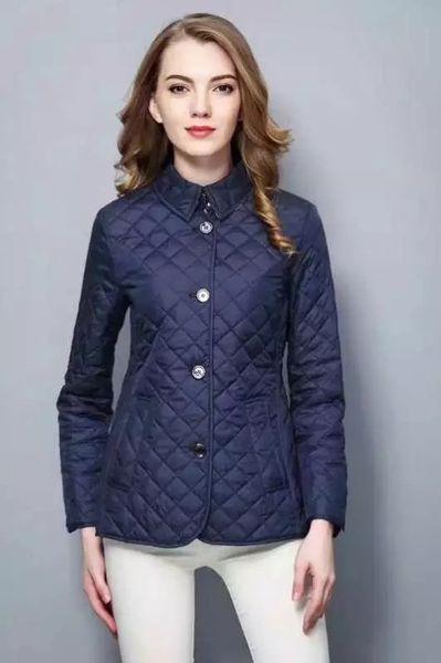Hot Classic!women fashion england short thin cotton padded coat/high quality brand designer jacket for women size S-XXL #19010 free shipping