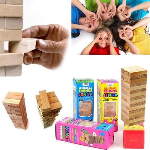 New Classic Balance Board Game For Kids Toys Educational Kit Building Block Beech Wooden Montessori Kits Interactive Gift 48pcss Assembly