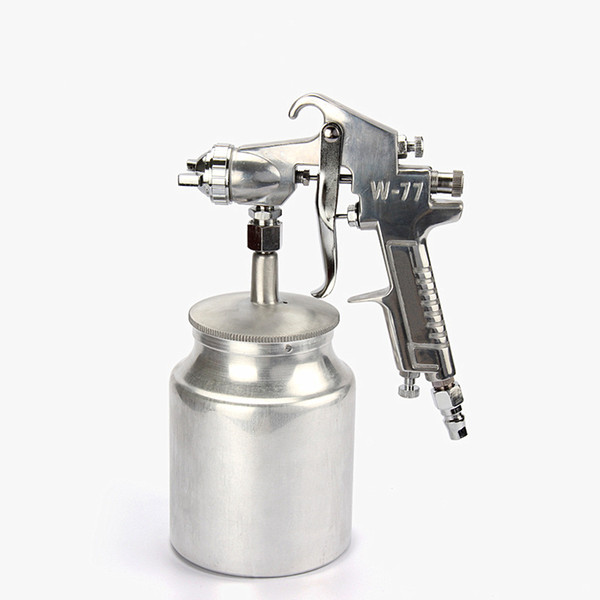 hot selling W-77S pneumatic paint spray gun 2.0mm nozzle high atomization air spraying tools furniture woodworking car coating free shipping